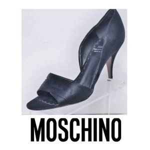 MOSCHINO Cheap & Chic Italy Satin Heels Pump Shoes